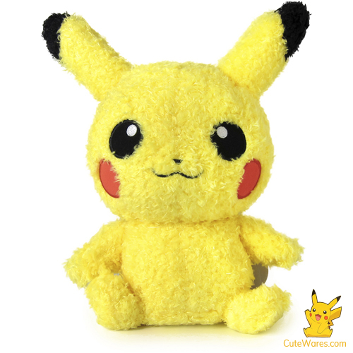 Pikachu Fluffy Plush Doll - Medium