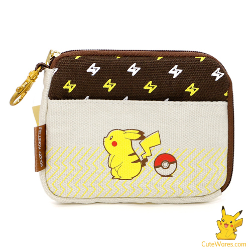 Pikachu 2 Layer Knitted Fabric Pouch