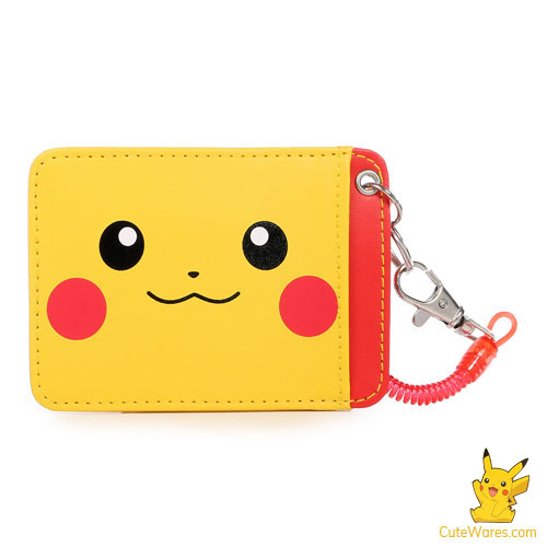 Pikachu Card Case with Safety Rope - Smile