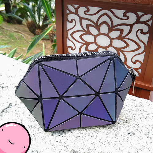 Color Change Rainbow Irregular Star Geometric Fold Pouch